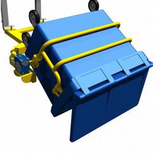 Rotating Forklift Bin Handler