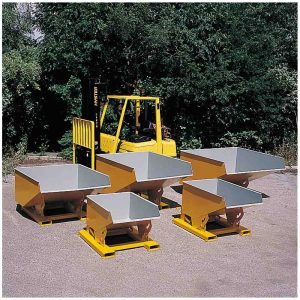 STD Castors to fit fork mounted skip for forklift