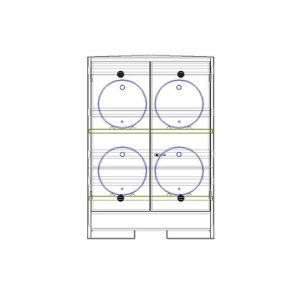 Steel Horizontal 4 Drum Store for sale